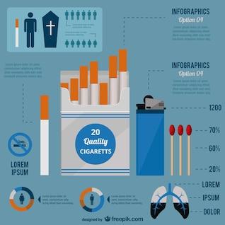 Vetor de fumar infográfico