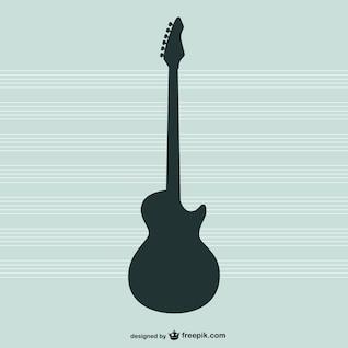 Vetor silhueta violão