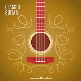 Design clássico do vetor da guitarra