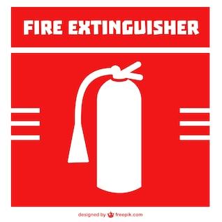 Extintor de incêndio vetor