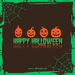 Felicitação cartão de abóbora de Halloween