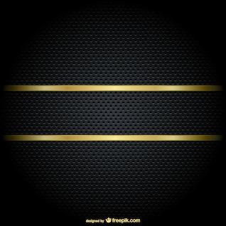 Beira do ouro em um fundo preto
