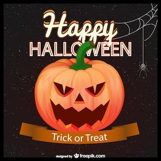 Trick or treat cartão de dia das bruxas