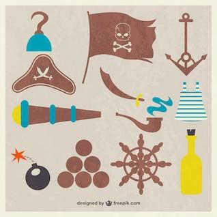 Material pirata do vintage