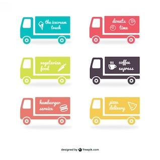 Etiquetas caminhão embalar