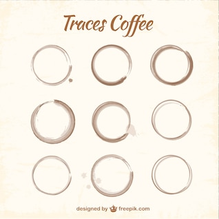 Manchas de café embalar