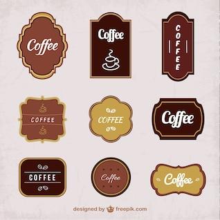 Etiquetas do café embalar