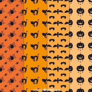 Halloween pacote padrões editáveis