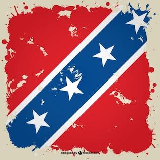 Bandeira confederada grunge