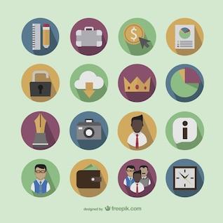 ícones coloridos de negócios