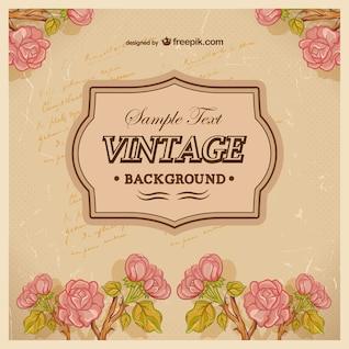 Fundo do vintage com rosas