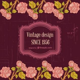 Design floral do vintage