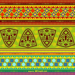 Teste padrão colorido africano