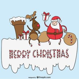 Feliz natal vetor dos desenhos animados