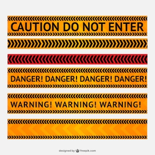 Perigo e linha de alerta vector