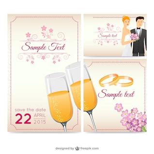 belo casamento vetor cartão