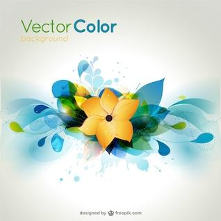 vector fundo colorido da flor
