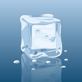 vector gelo realista