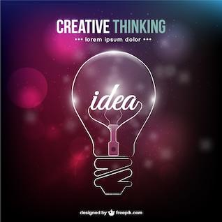 Pensamento criativo conceitual vector