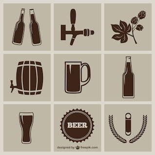 ícones da cerveja embalar