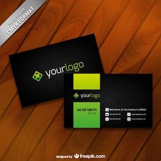 Modelo do cartão com logotipo