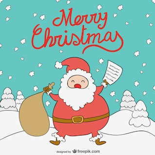 Feliz Noel dos desenhos animados do Natal de Papai