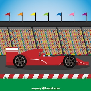 Corridas de carro vermelho vector