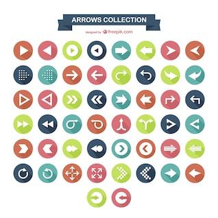 Coleção dos ícones de seta