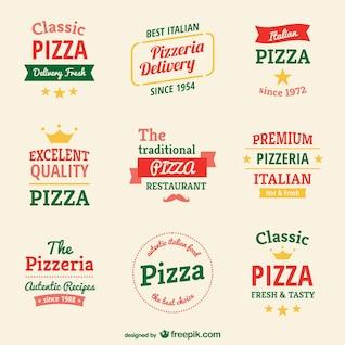 Modelos de logotipo pizzaria