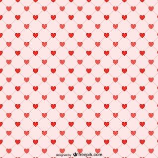 Corações vermelhos fundo padrão