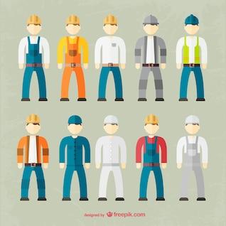 Fábrica coleção outfit trabalhador