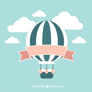 Vector balão do vintage
