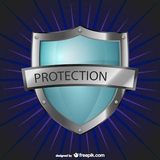 Logotipo proteção com escudo