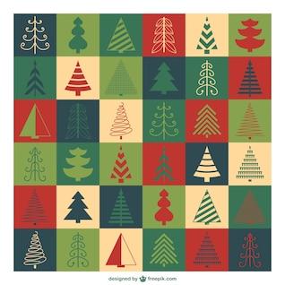 Natal padrão árvores