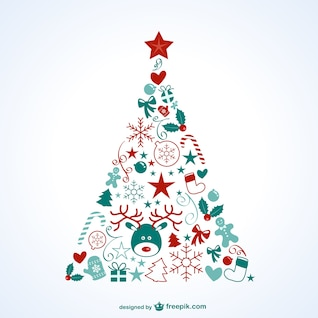 árvore de Natal com ícones