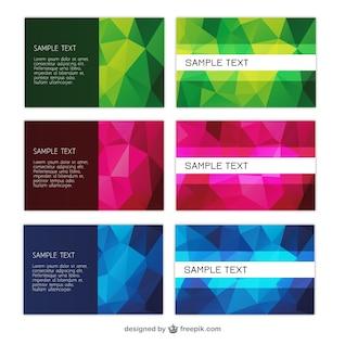 Modelos coloridos cartão de visita