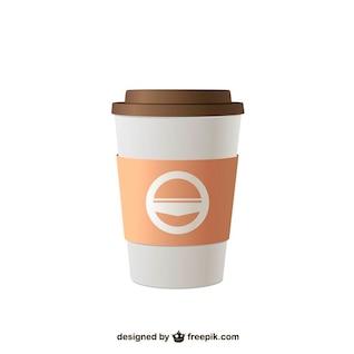 Ilustração vetorial café takeaway