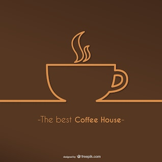 Melhor casa de café do logotipo do vetor
