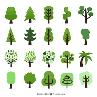 árvores planas charges embalar