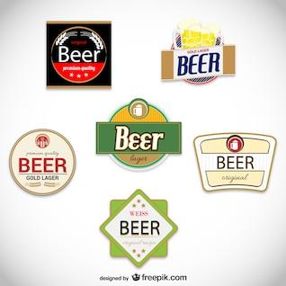 Rótulos de cerveja do vintage embalar