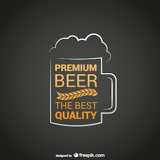 Logotipo da cerveja premium