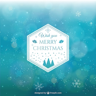 Fundo abstrato do Natal com flocos de neve