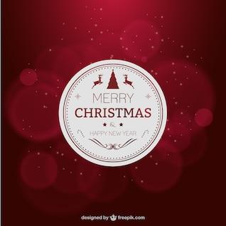 Elegante cartão de Natal vermelho
