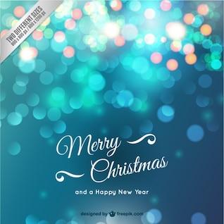 Cartão de Natal com brilhos