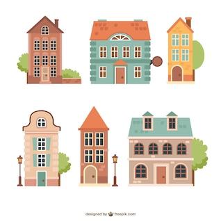 Casas do vintage embalar
