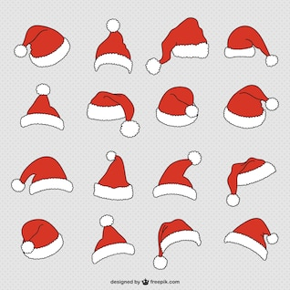 Papai Noel coleção chapéus