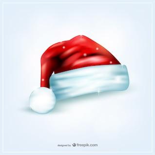 Chapéu de Papai Noel com brilhos
