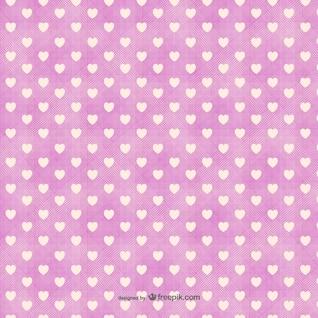 Teste padrão dos corações minimalistas