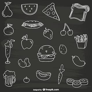 Preto e branco coleta de alimentos