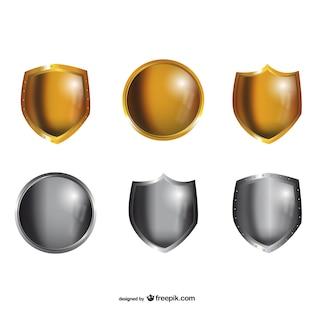 Escudos de metal embalar
